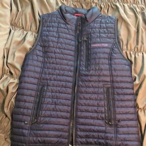Vineyard Vines Navy Puffer Vest